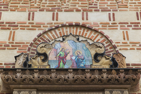 anton: Architectural detail of st. Anton Church in Bucharest, Romania.