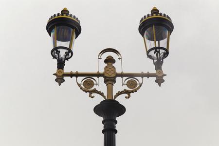 Streetlight in retro style closeup