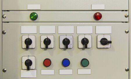control panel lights: Electrical control panel closeup