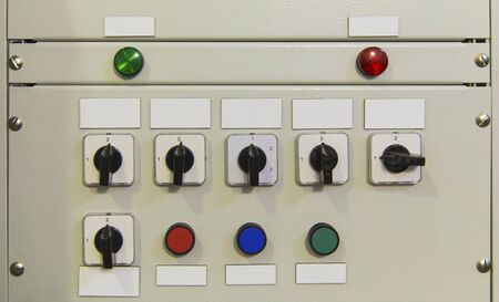 Electrical control panel-up Stockfoto