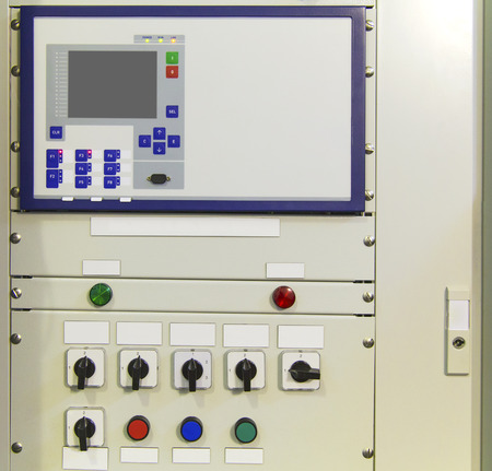 switchgear: Electrical control panel with electronic devices in modern electrical substation Editorial