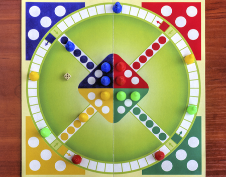 childrens playing: Colorful board for playing traditional childrens game