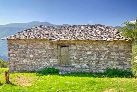 Old stone house in the mountain