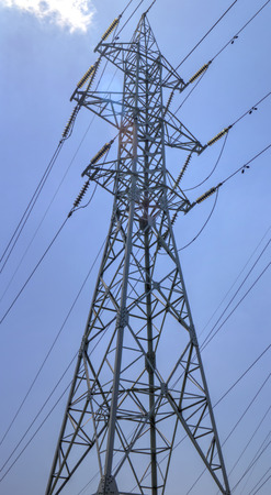 over voltage: High voltage electrical overhead lines