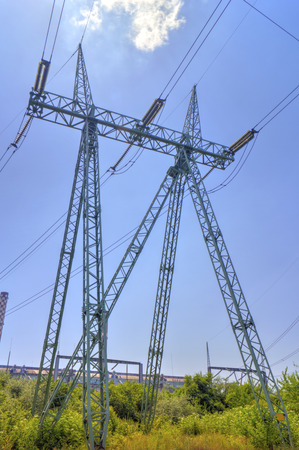over voltage: High voltage electrical overhead line