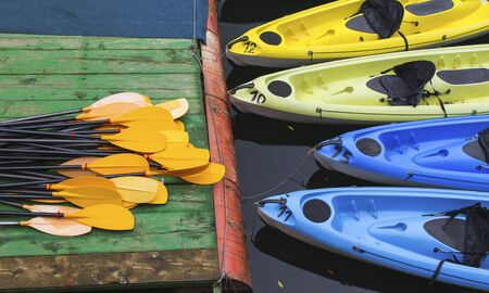 Kayaks for rent on the river