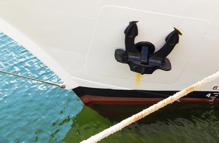 ship anchor: Anchor on the ship closeup