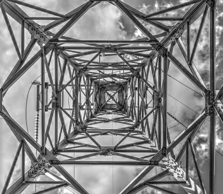 Industrial construction background in black and white Stock Photo