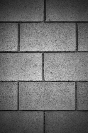 Stylish stone wall background in black and white Stock Photo