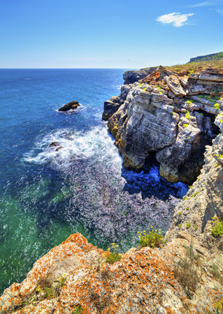 Beautiful landscape with rocky shore