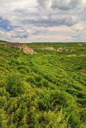Beautiful summer landscape in mountain range Stock Photo - 128044882
