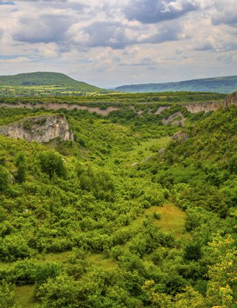 Beautiful summer landscape in mountain range Stock Photo - 128044885