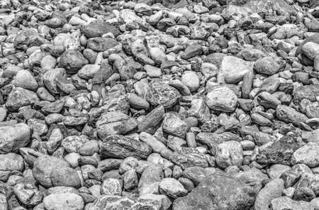 Stone background in black and white
