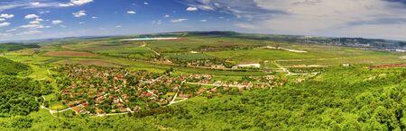 Beautiful summer landscape over Razdelna village in Bulgaria