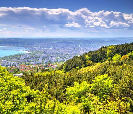 Beautiful landscape over city of Varna in Bulgaria