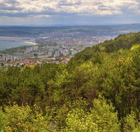 Beautiful landscape over city of Varna in Bulgaria Stock Photo