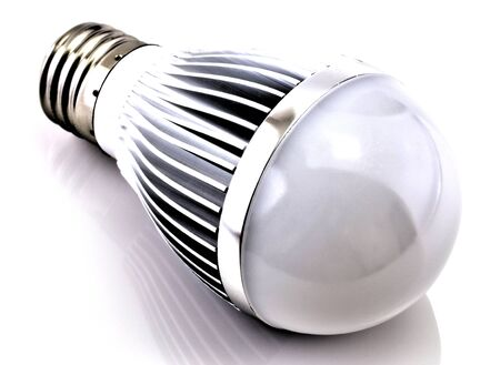 LED bulb isolated on white background close up view