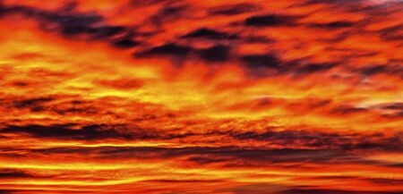 Beautiful sunset with colorful clouds in the sky Stock Photo