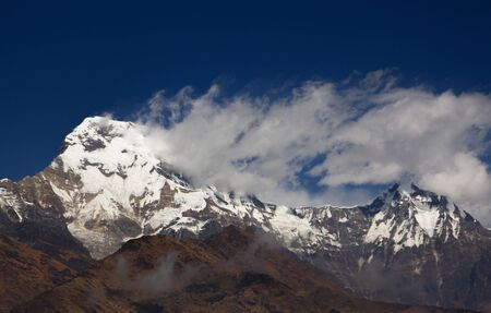A snow mountain in the Himalaya range photo
