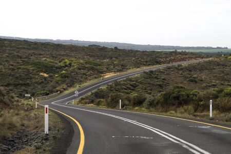 infinity road: A turning asphalt road in the countryside