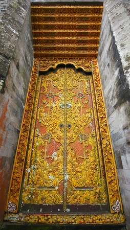 Ancient temple entrance in Bali Indonesia Stock Photo - 17346581