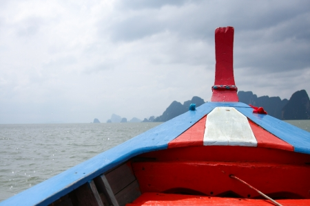 A boat head in the sea, Thailand Stock Photo