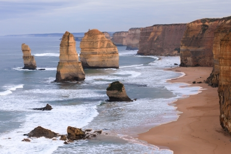 The Twelve Apostles along the Great Ocean Road, Australia.