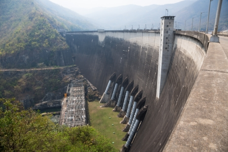 bhumibol: Bhumibol dam in Thailand with capacity of 13,462,000,000 cubic