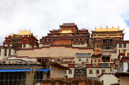 Monastero di Songzanlin in Zhongdian (Shangri-La), il Yunnan, Cina Archivio Fotografico - 18540157