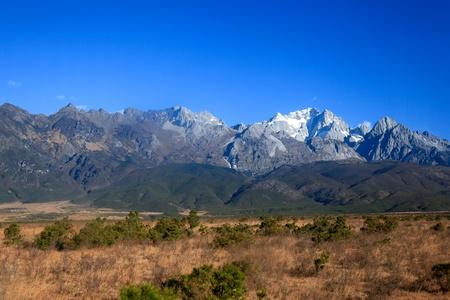 environmen: Jade dragon snow mountain in Yunnan, China