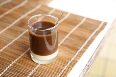 Old style thai coffee on a bamboo plate Stock Photo - 18846266