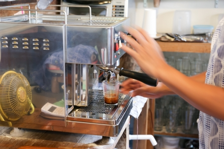 intentionally: Making a double shot of espresso with intentionally motion-blur