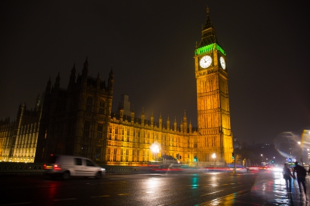 Elizabeth Tower known as the Big Ben in London, England, UK photo