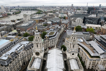 saint pauls cathedral: Top View from Saint Pauls Cathedral, London, England, UK