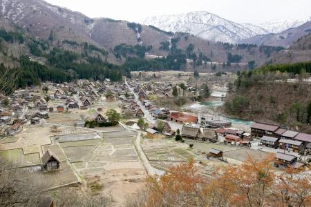 gokayama: Traditional style huts in Gassho-zukuri Village, Shirakawago and Gokayama, World Heritage Site, Japan