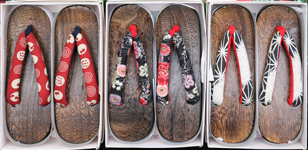 Traditional japanese style sandals called Geta