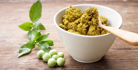 green curry paste in white cup Stock Photo