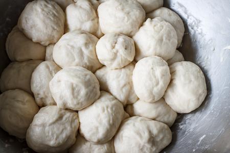 yeast: yeast Dough in bowl Stock Photo