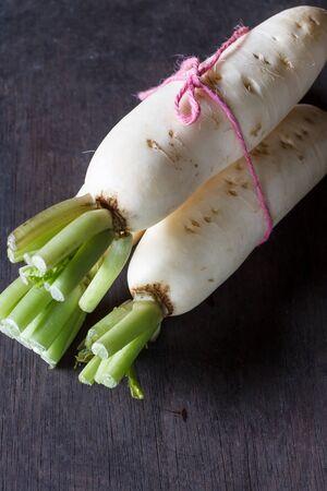 radishes: Daikon radishes