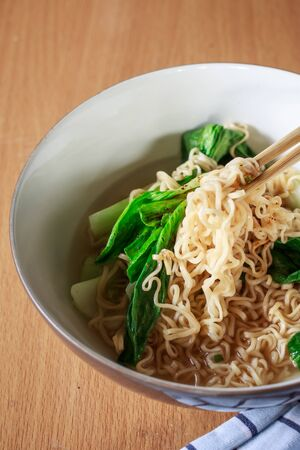 chinese noodles: chinese noodles with vegetable