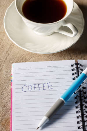 note notebook: coffee with note book