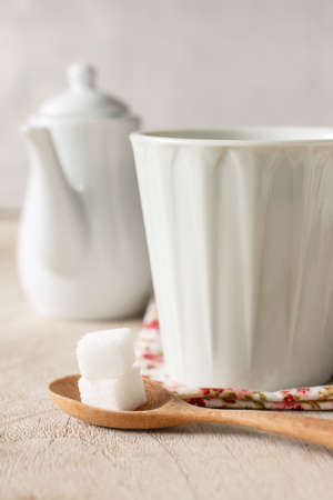 for tea: white cup for tea or coffee
