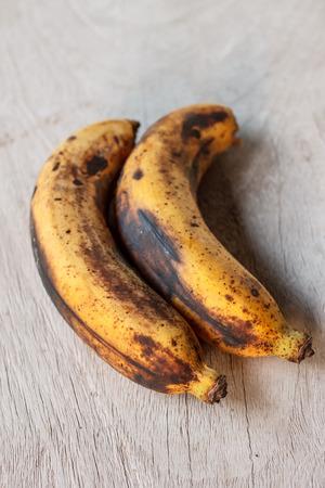 bad banana: banana overripe Stock Photo