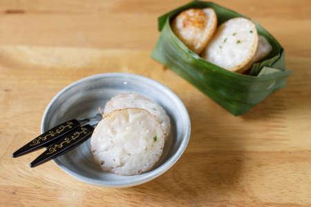 sweetmeat: Coconut milk mix sugar and flour. Thai sweetmeat