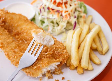Vis schaaltje - gebakken visfilet met groenten
