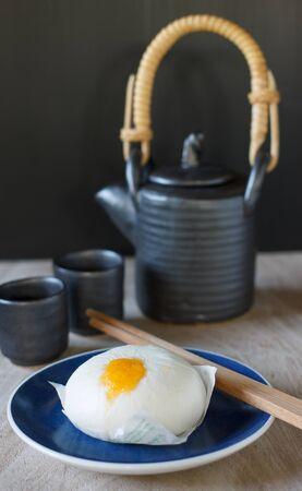sweet stuff: Chinese steamed bun and sweet creamy stuff Stock Photo