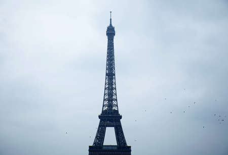 the eifel tower in cloudy day photo