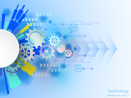 abstract background of technological innovation and technology concept. Illustration