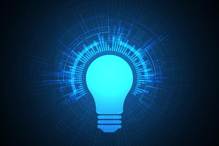 Vector abstract technology lamp design. Illusztráció
