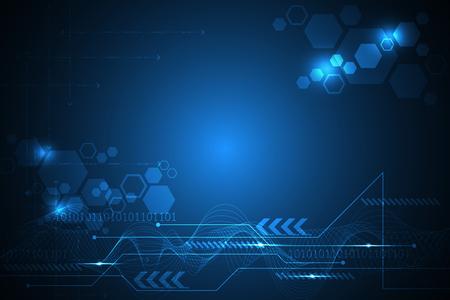 Vector abstract background tecnologia innovazione del futuro.
